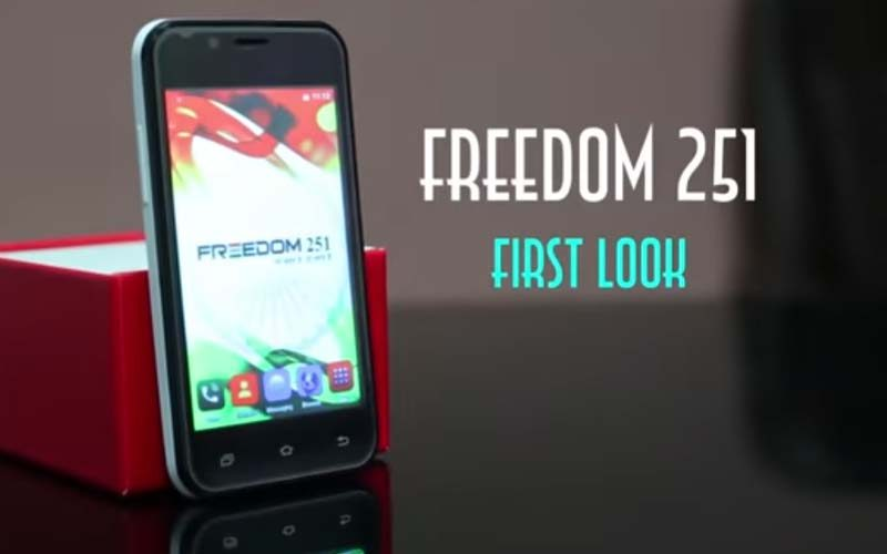 Freedom 251- the cheapest smartphone in the world